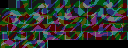 The packed tiles, with a lot of colors in a chaotic-looking way